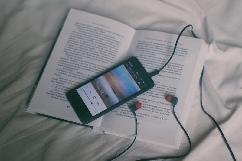Book and smartphone